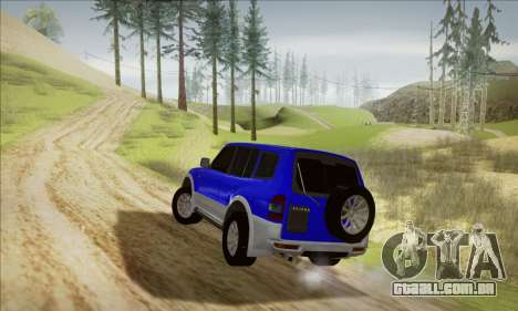 Mitsubishi Pajero 3 Beta para GTA San Andreas traseira esquerda vista