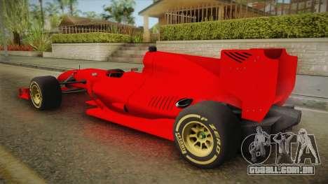 Lotus F1 T125 para GTA San Andreas esquerda vista