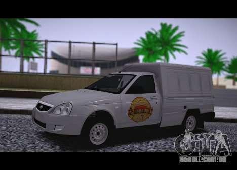 Lada Priora Budka para GTA San Andreas traseira esquerda vista