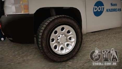 Chevrolet Silverado 2009 SA DOT para GTA San Andreas vista traseira
