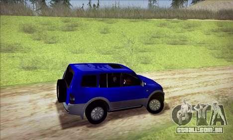 Mitsubishi Pajero 3 Beta para GTA San Andreas vista traseira
