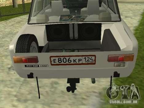 VAZ 21013 124RUS para GTA San Andreas traseira esquerda vista