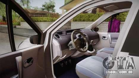 Renault Scenic II para GTA San Andreas vista direita