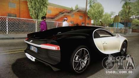Bugatti Chiron 2017 v2.0 Italian Plate para GTA San Andreas esquerda vista