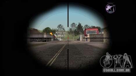 Heavysniper rifle para GTA San Andreas terceira tela