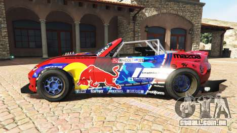 GTA 5 Mazda MX-5 (ND) RADBUL Mad Mike v1.1 [replace] vista lateral esquerda