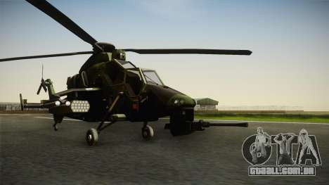 Eurocopter Tiger Extra Skin para GTA San Andreas vista direita