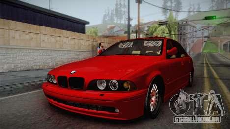 BMW 530d E39 Red Black para GTA San Andreas