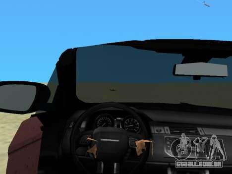 Range Rover Evoque para GTA Vice City vista traseira esquerda