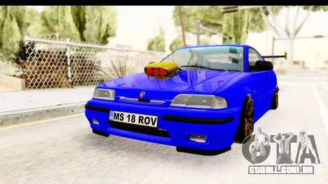 Rover 220 Kent Edition de Haur para GTA San Andreas traseira esquerda vista