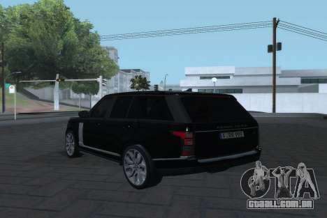 Land Rover Range Rover Vogue para GTA San Andreas esquerda vista