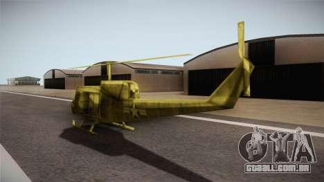 Bell UH-1H from Army Men: Serges Heroes 2 DC para GTA San Andreas traseira esquerda vista