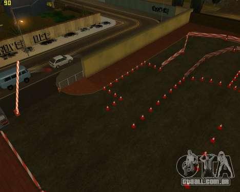 O circuito, como na escola de condução para GTA San Andreas terceira tela