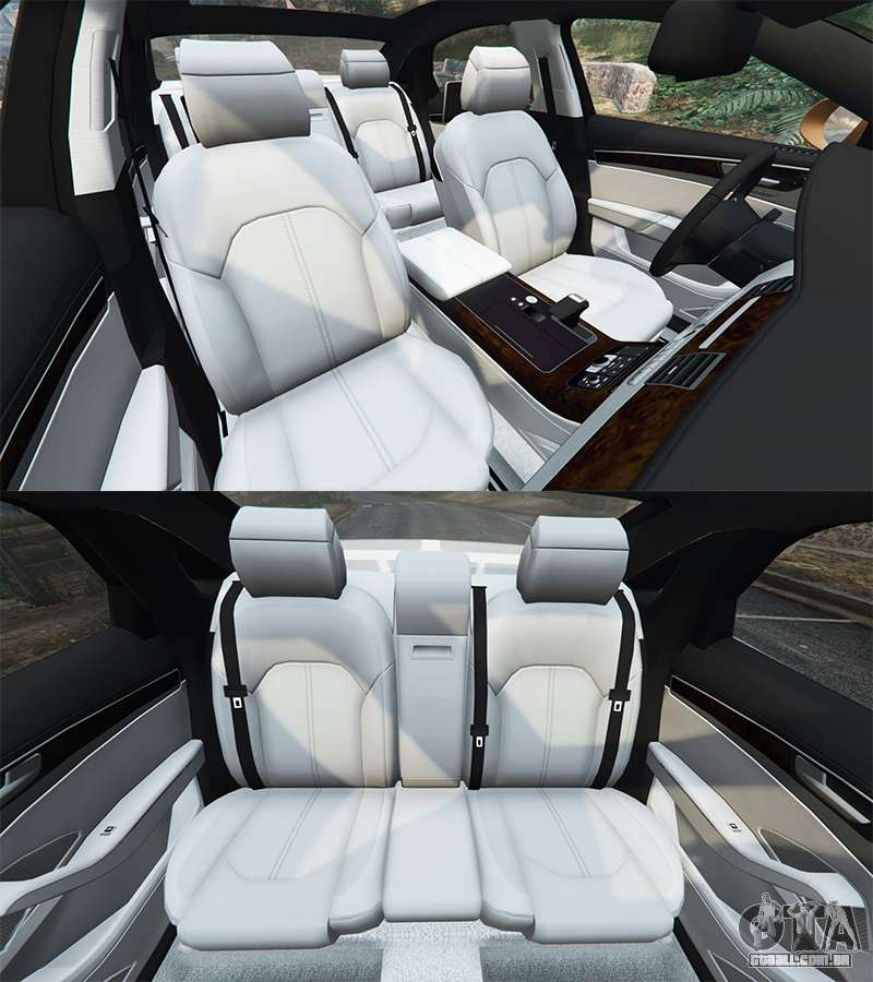2013 Audi A8 Interior: Audi A8 L (D4) 2013 [replace] Para GTA 5