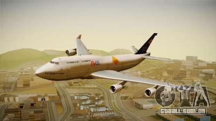 Boeing 747-400 FlyUS with NMB Logo para GTA San Andreas