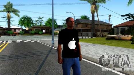 Apple T-shirt para GTA San Andreas