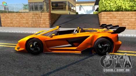 GTA V Pegassi Lampo Roadster para GTA San Andreas esquerda vista