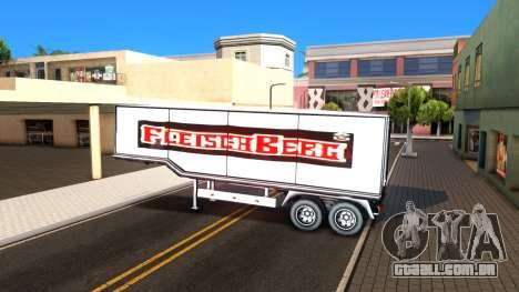 Box Trailer V2 para GTA San Andreas vista interior