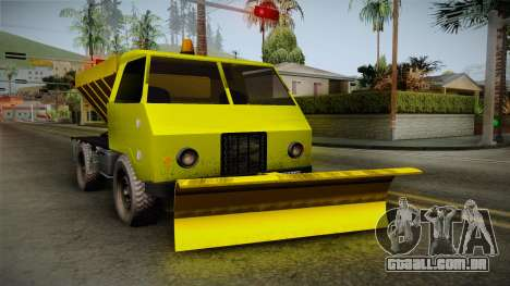 TAM 110 Snow Blower para GTA San Andreas traseira esquerda vista