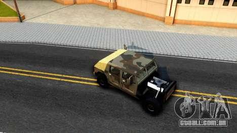 New Patriot GTA V para GTA San Andreas vista traseira