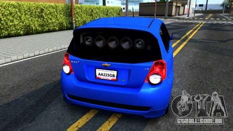Chevrolet Aveo 2012 para GTA San Andreas vista direita