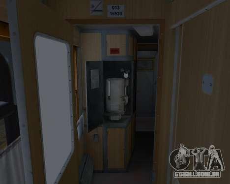 Compartimento de carro caminhos-de-ferro ucrania para as rodas de GTA San Andreas