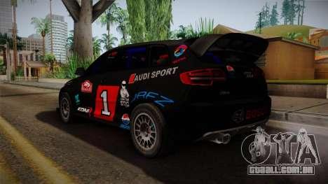 Audi RS3 Sportback Rally WRC para GTA San Andreas esquerda vista