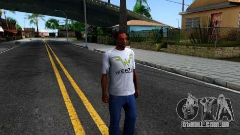 Weezer T-Shirt para GTA San Andreas segunda tela