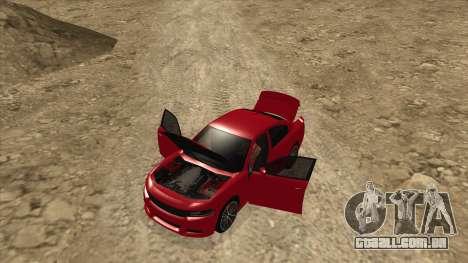 Dodge Charger R/T 2015 para GTA San Andreas vista traseira