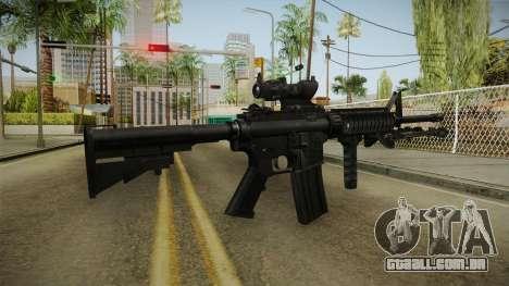 M4A1 ACOG para GTA San Andreas terceira tela