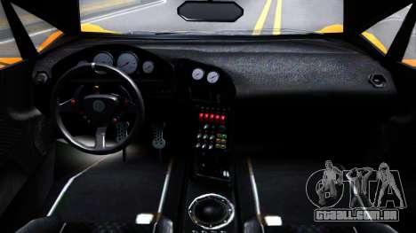 GTA V Pegassi Lampo Roadster para GTA San Andreas vista interior