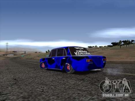 VAZ 2101 BC para GTA San Andreas traseira esquerda vista