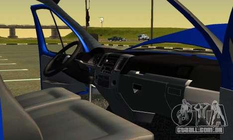 Gazel 3302 Negócios para GTA San Andreas vista superior