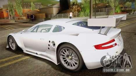 Aston Martin Racing DBR9 2005 v2.0.1 YCH para GTA San Andreas esquerda vista