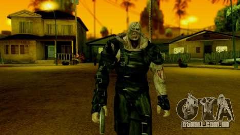 Resident Evil ORC - Nemesis para GTA San Andreas terceira tela