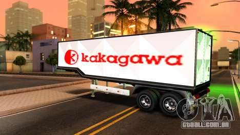 Box Trailer V2 para GTA San Andreas vista traseira