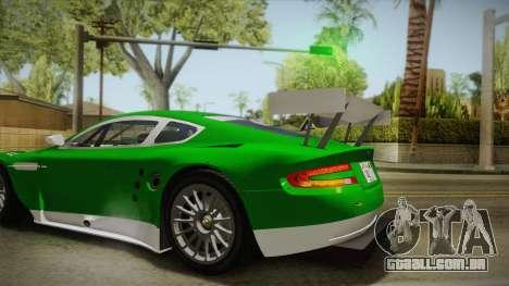 Aston Martin Racing DBR9 2005 v2.0.1 YCH para GTA San Andreas vista traseira