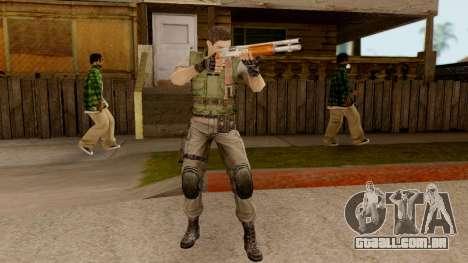 Resident Evil HD - Chris Redfield S.T.A.R.S para GTA San Andreas terceira tela