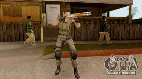 Resident Evil HD - Chris Redfield S.T.A.R.S para GTA San Andreas terceira tela
