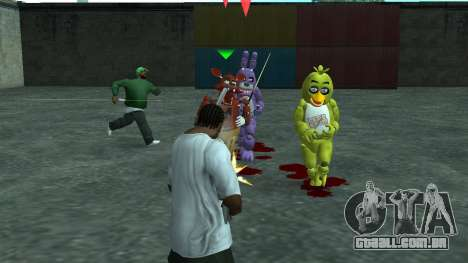 Five Nights At Freddys para GTA San Andreas terceira tela