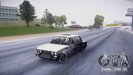 VAZ 2106 versão de inverno para GTA San Andreas esquerda vista
