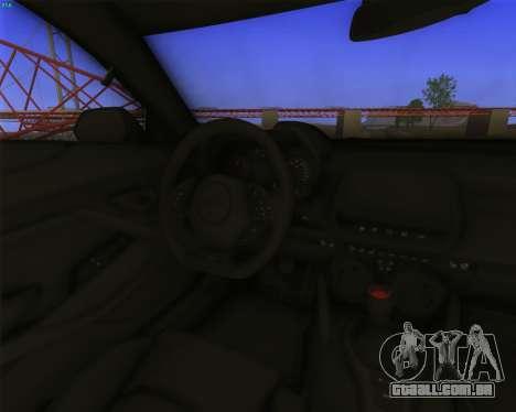 Chevrolet Camaro SS Xtreme para GTA San Andreas vista traseira