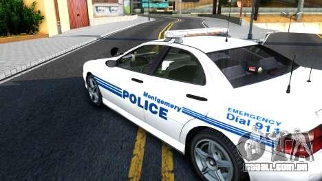 1998 Dinka Chavos Montgomery Police Department para GTA San Andreas vista direita