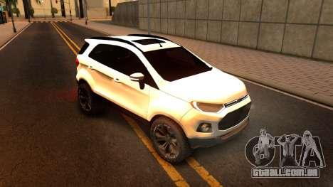 Ford EcoSport 2016 para GTA San Andreas esquerda vista
