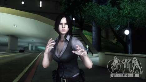Resident Evil 6 - Helena Usa Outfit para GTA San Andreas terceira tela