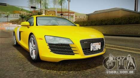 Audi R8 Coupe 4.2 FSI quattro US-Spec v1.0.0 para GTA San Andreas traseira esquerda vista