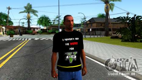 Love To Play San Andreas T-Shirt para GTA San Andreas segunda tela