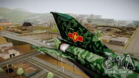 MIG-21 Norvietnamita para GTA San Andreas vista traseira