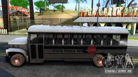 Prison Bus Driver Parallel Lines para GTA San Andreas esquerda vista