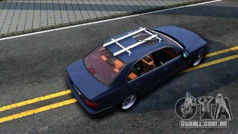 BMW e39 530d para GTA San Andreas vista traseira